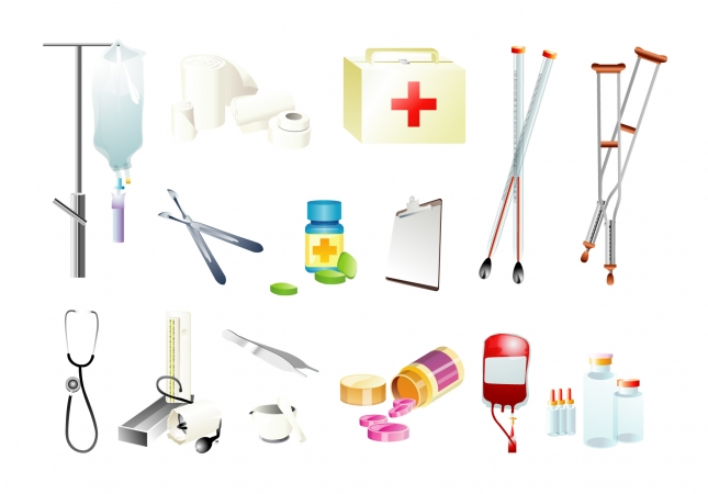 medical-supplies-free-vector
